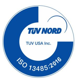 Neurovision Medical Products quality management system is certified by TUV USA to ISO 13485: 2016